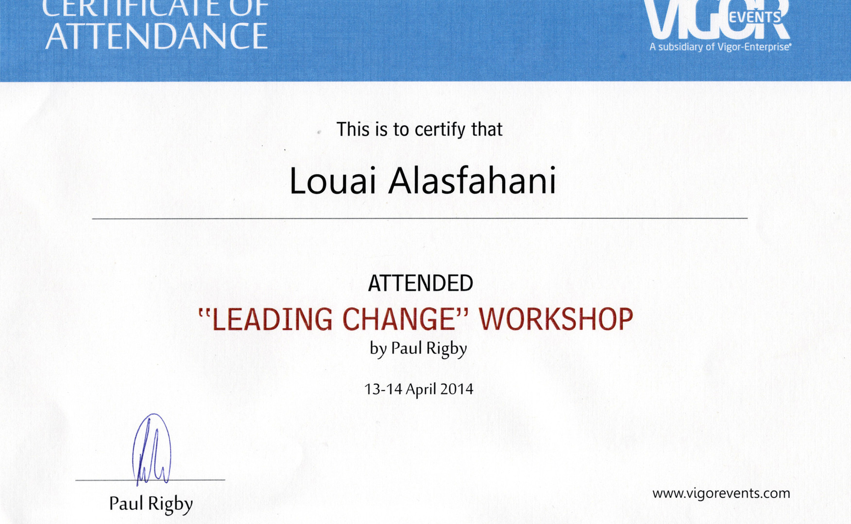 Certificate of attendance_leading change