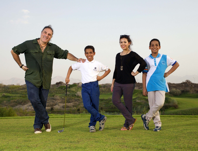 Louai Alasfahani with Oman's youngest professional golfer known as Tiger Woods of Oman