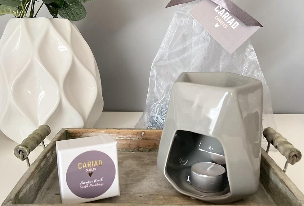 Luxury Gift Set - Aspen Wax Burner & Heart Melts