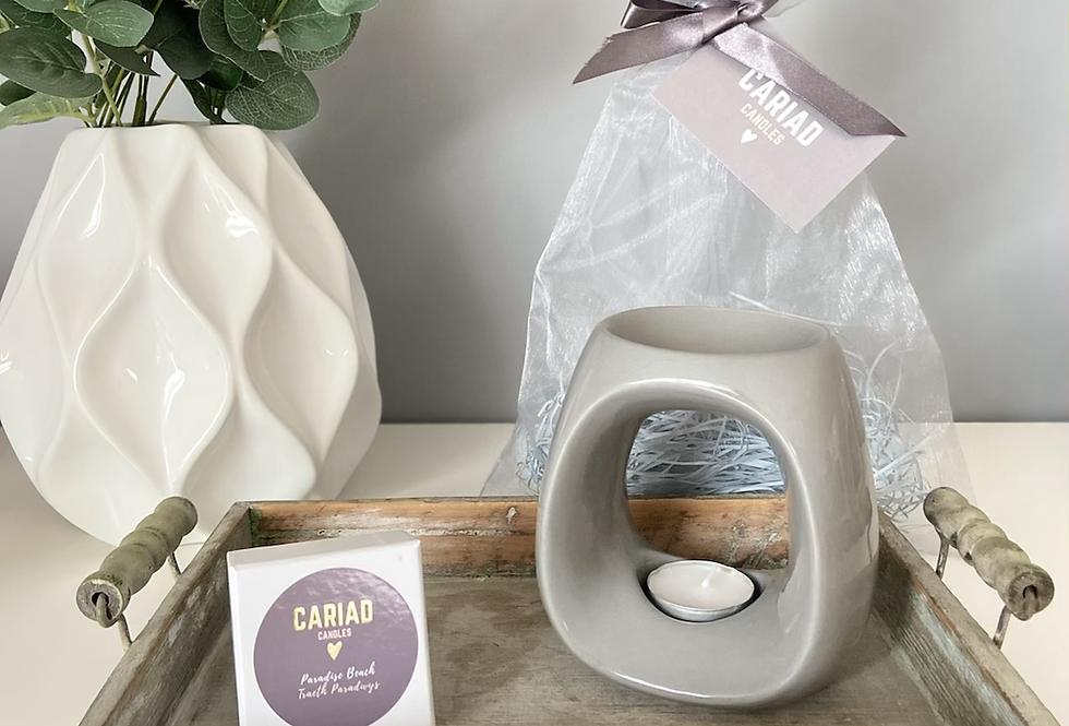 Luxury Gift Set - Paris Burner & Heart Melts
