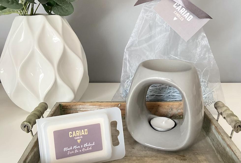 Luxury Gift Set - Paris Ceramic Burner & Clamshell Melts