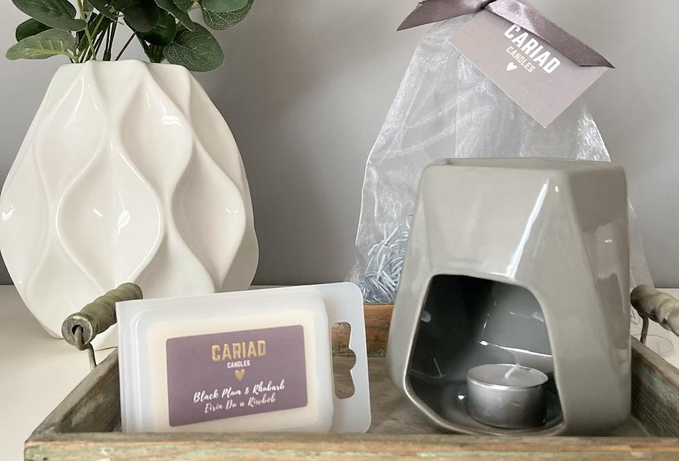 Luxury Gift Set - Aspen Wax Burner & Clamshell Melts