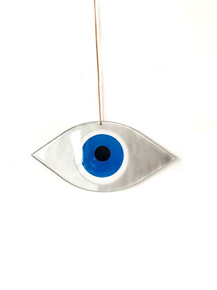LARGE EYE SHAPED - DEEP BLUE