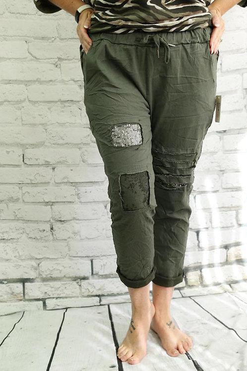 Sequin Khaki Magic Trousers