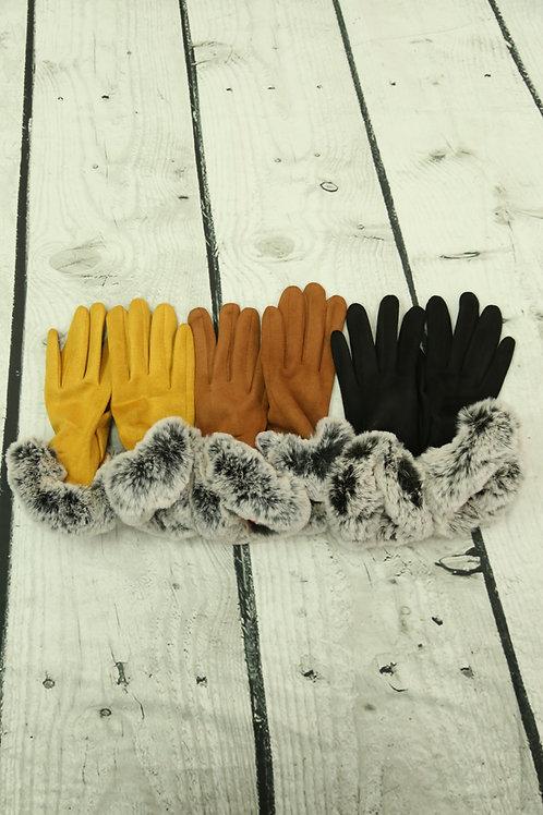 Faux Fur Gloves
