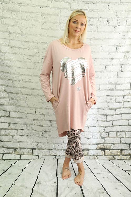 Heart Tunic Top