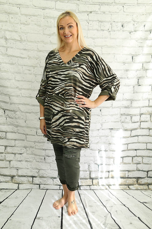 Zebra Tunic Top
