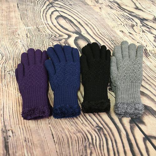 Woolly Zig Zag Gloves
