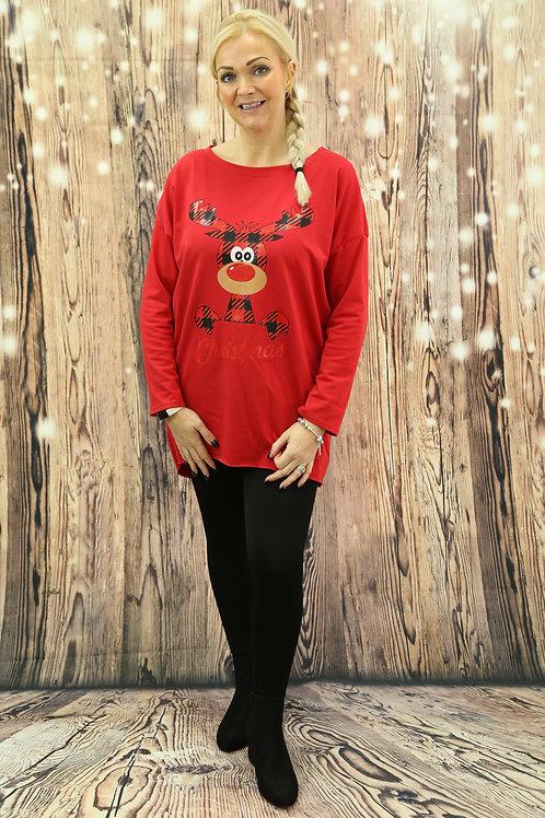 Reindeer Christmas Top