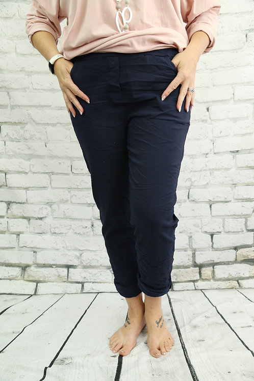 Navy magic trousers