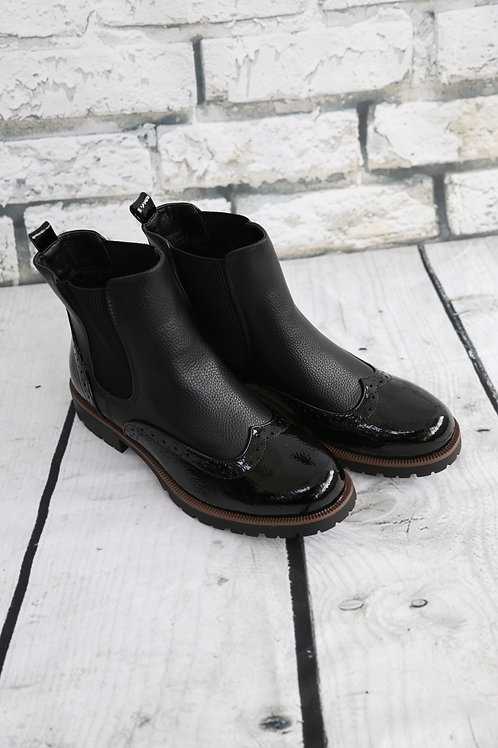 Black Brogue Style Boots