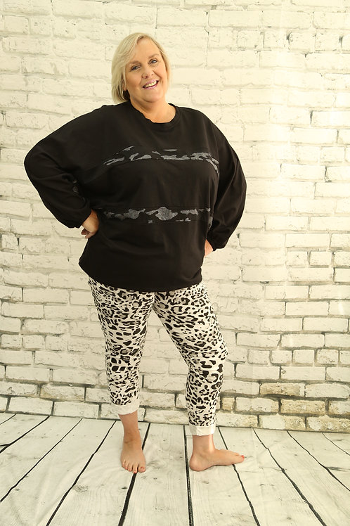 Batwing Jumper with Camo Stripe