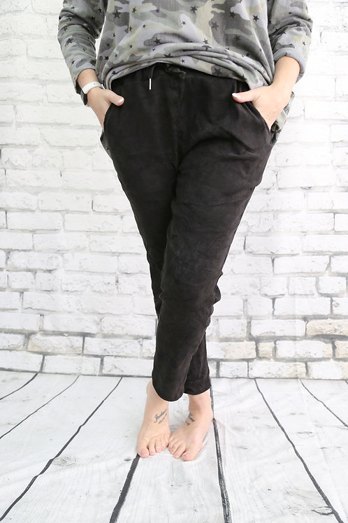 Black Suede Magic Trousers