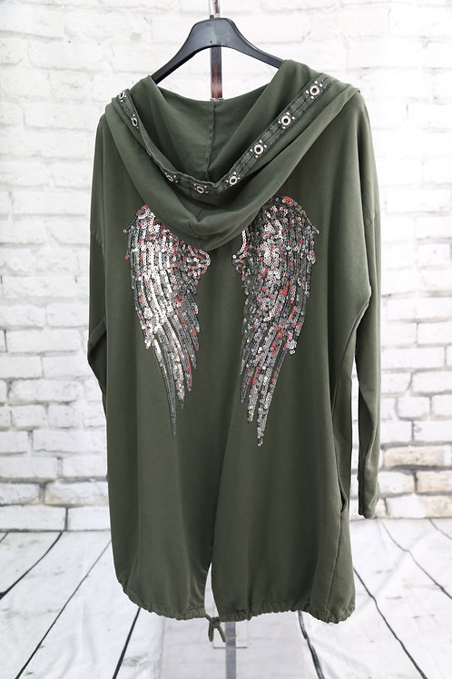 Wings Sequin Hooded Jacket