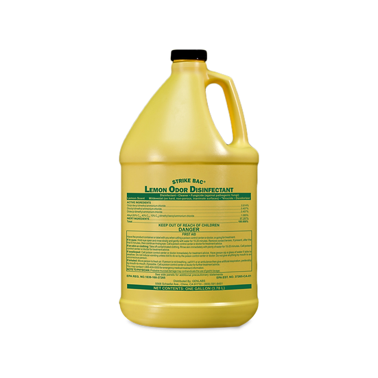 Strike Bac® Lemon Odor Disinfectant Cleaner GHS SDS - 1 Gallon