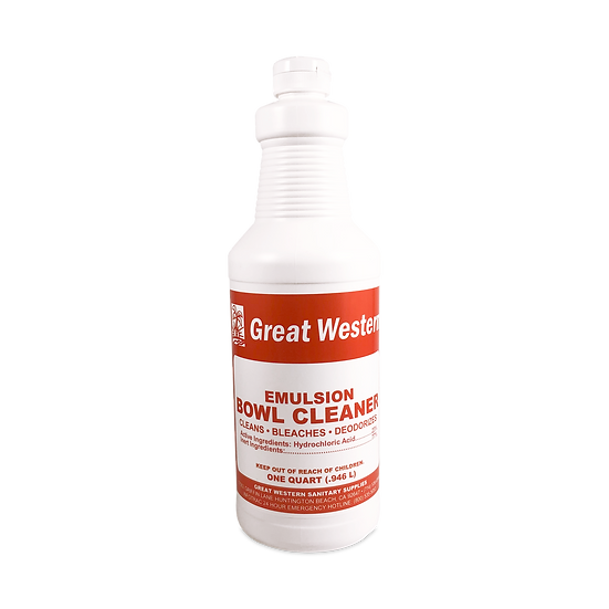 Great Western Emulsion Bowl Cleaner - 1 Quart