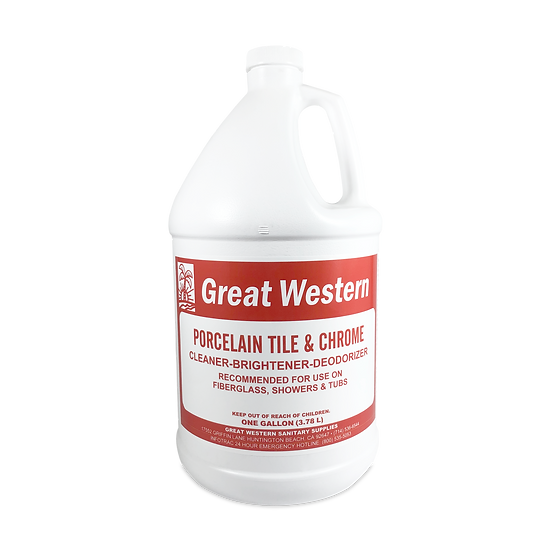 Great Western Porcelain Tile and Chrome Cleaner - 1 Gallon