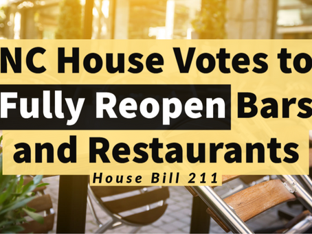 Reopening Legislation for Service Industry Passes NC House
