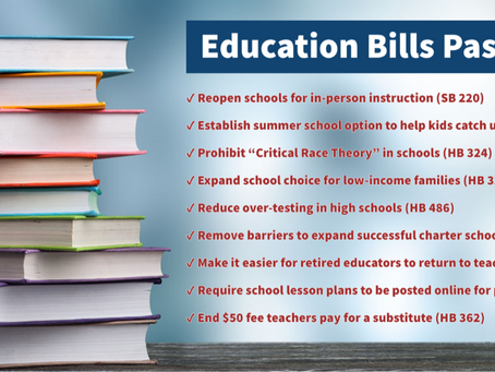 Key Education Policy Items Approved by NC House