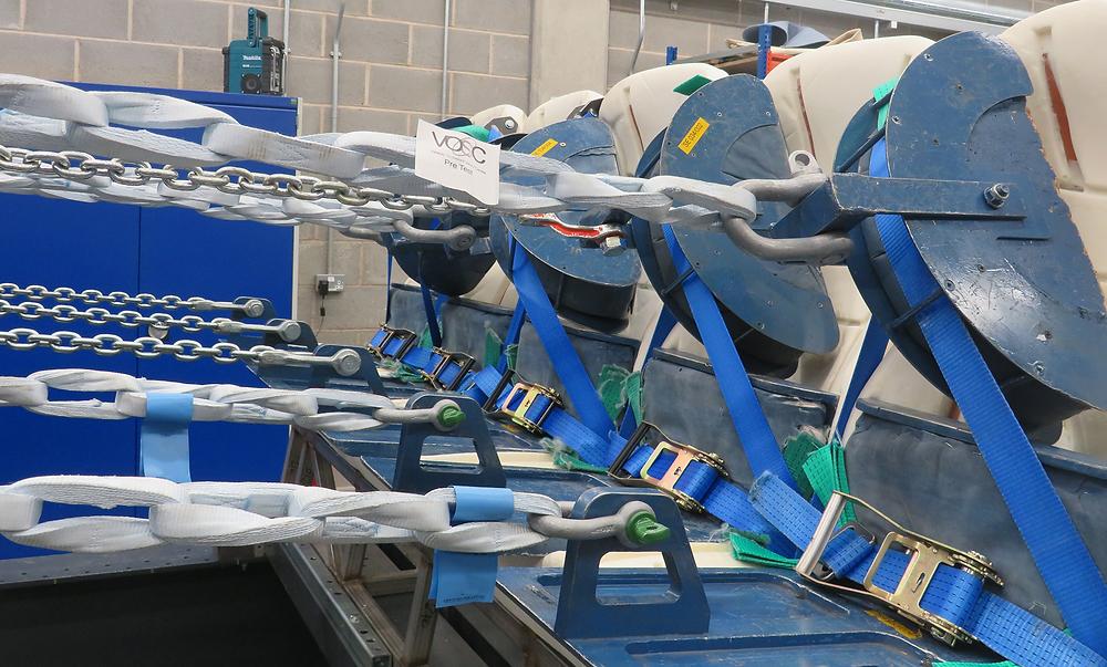 seat belt anchorage test set up at independent test facility VOSC