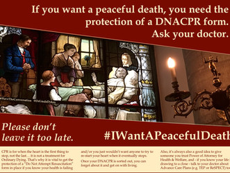 #IWantAPeacefulDeath: promoting the protection of DNACPR forms