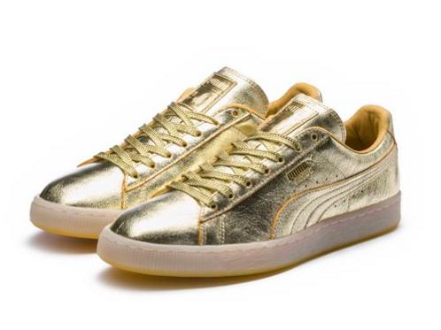 Кроссовки Puma Suede Jr 50 Gold