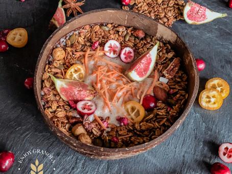 Wortel granola smoothiebowl
