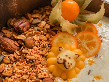 Oranje granola bowl 🦁