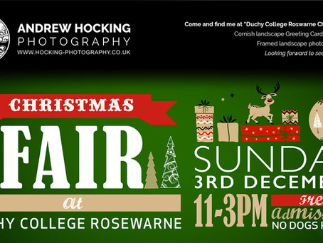 "Come see me at ""Duchy College Rosewarne Christmas Fair!"""
