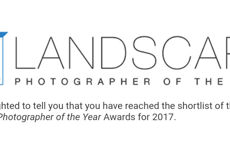 "Shortlisted for ""Landscape Photographer of the Year 2017"""