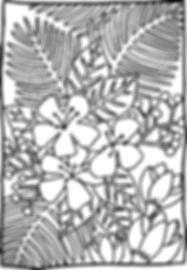 Coloriage_Fleurs exotiques_Les Jolies Re