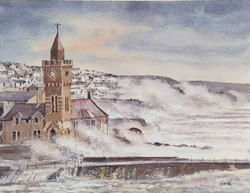 Porthleven storms, Cornwall