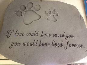 Pet Stone Plaque