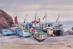 Cadgwith fishing boats
