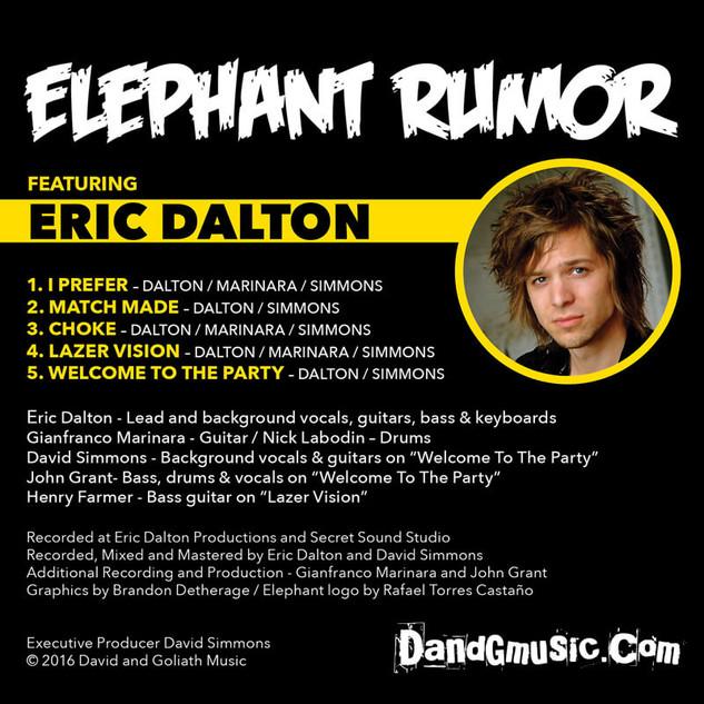 Elephant Rumor CD Jacket