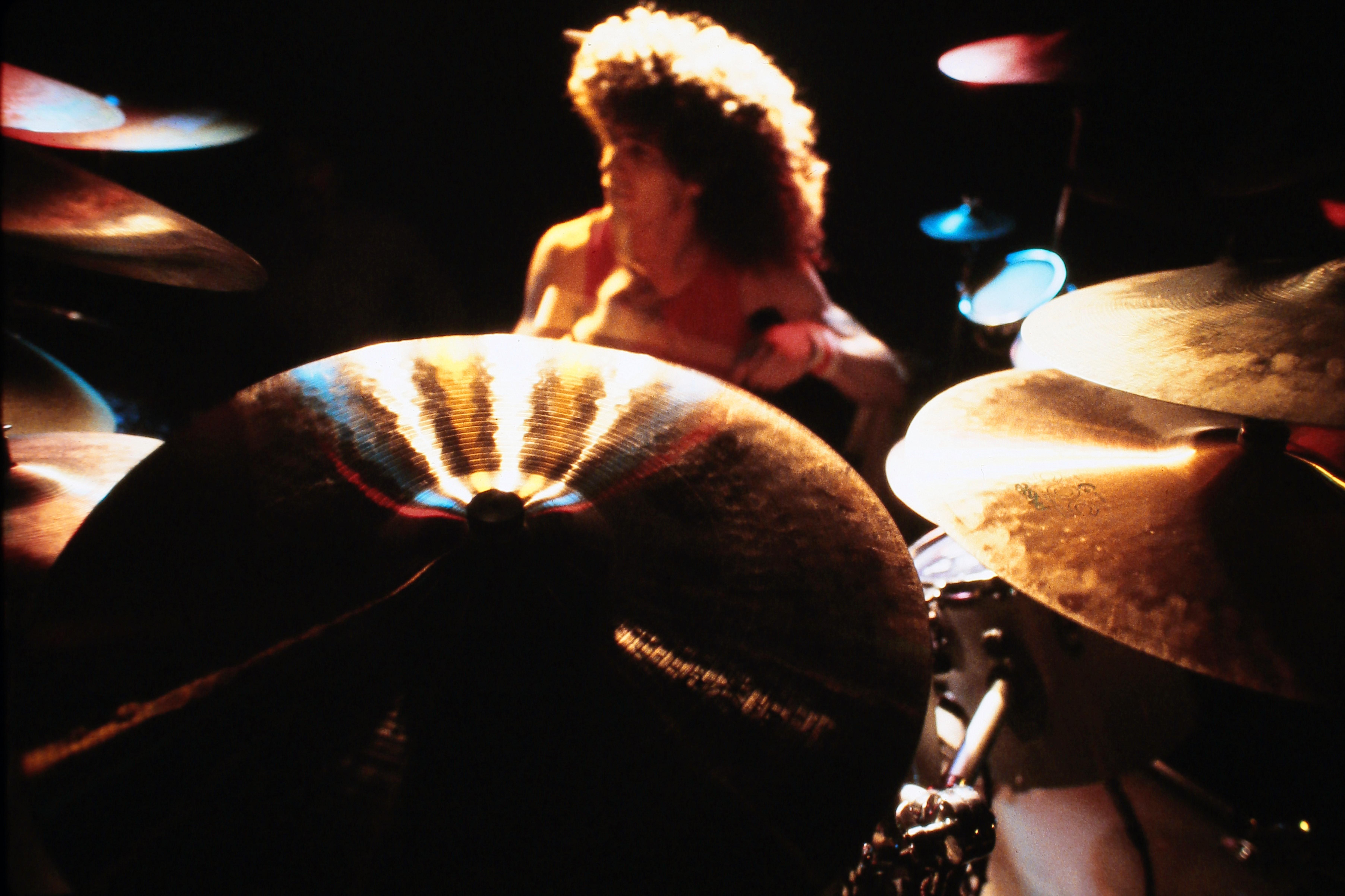 Glenn Jones behind the drums