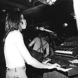 Jeff Avery playing keyboards 1978