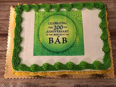 Birth of the Bab cake