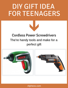 DIY Gift Idea For Teenagers - Cordless Power Screwdrivers
