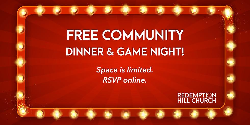 Community Dinner + Game Night
