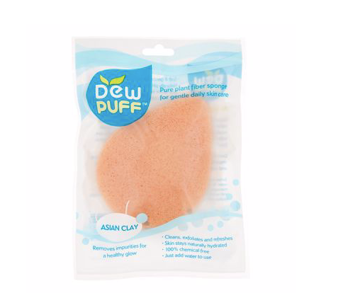Dew Puff Konjac Sponge, Asian Clay