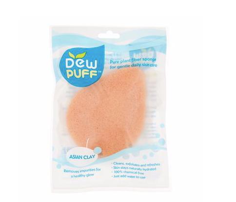 Dew Puff Konjac Sponge, Asian Clay