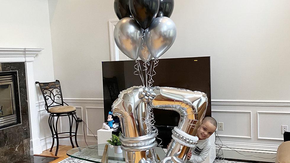 Monochrome Balloon Bouquet