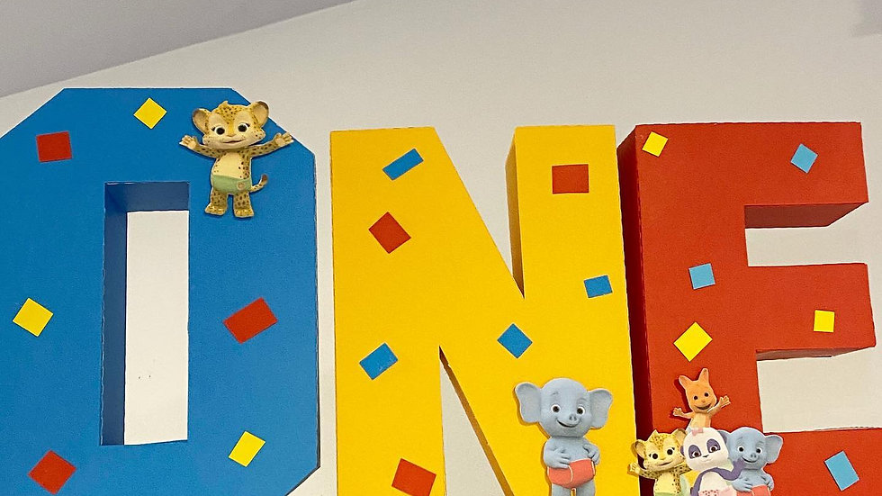 World Party 3D Cardstock Letters