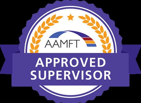 AAMFT Approved Supervisor
