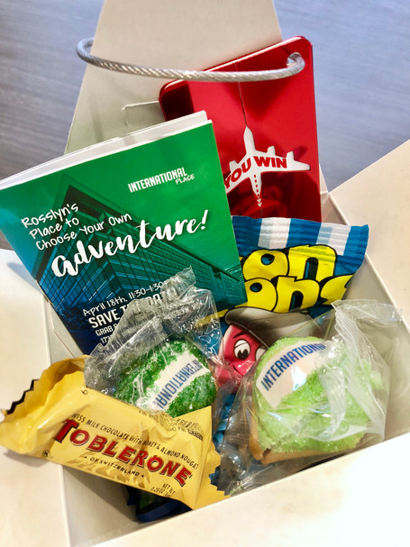 International messaging combines local eateries and travel giveaway