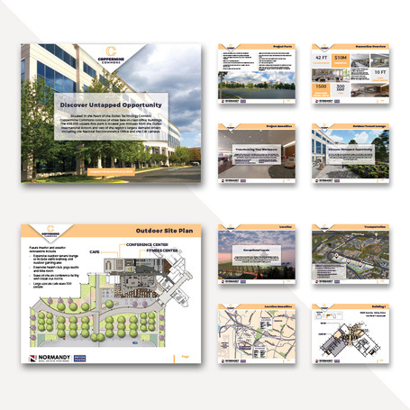 Property brochure with custom maps and floor plans