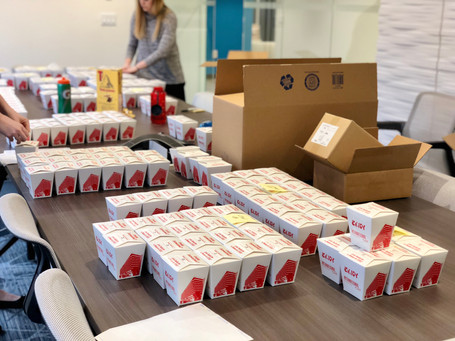 Each box had its own unique digital code to track engagement