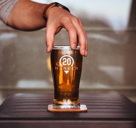 Marker 20 Brewery Glass
