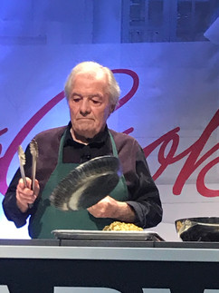Chef showing use of Athena skillet